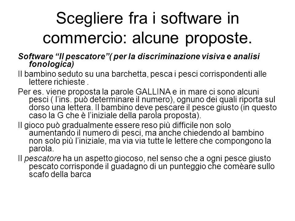 Scegliere fra i software in commercio: alcune proposte.
