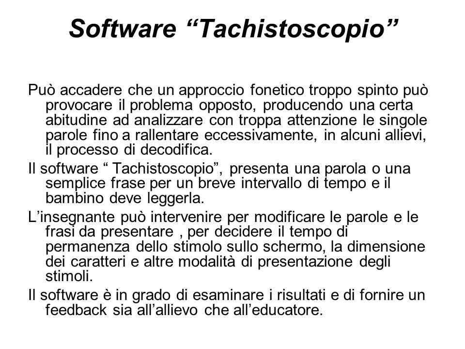 Software Tachistoscopio