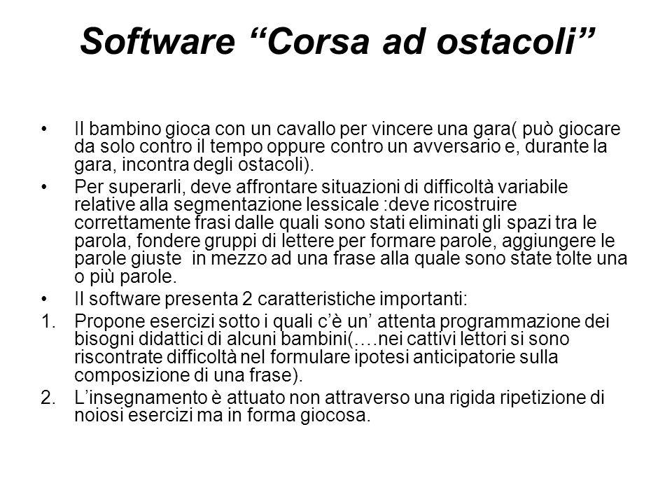Software Corsa ad ostacoli