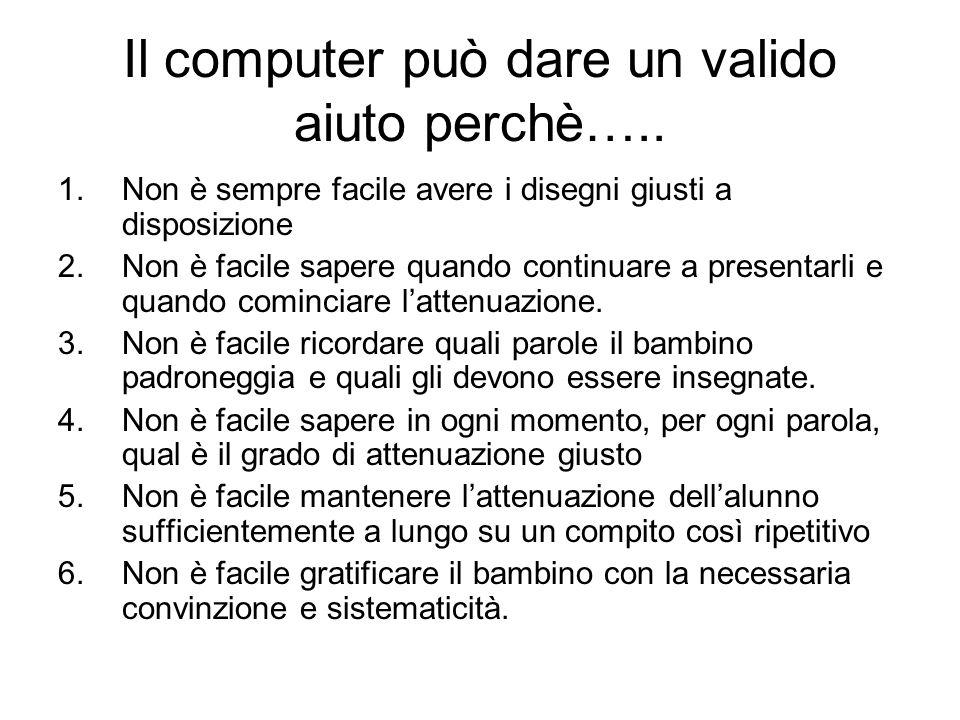 Il computer può dare un valido aiuto perchè…..