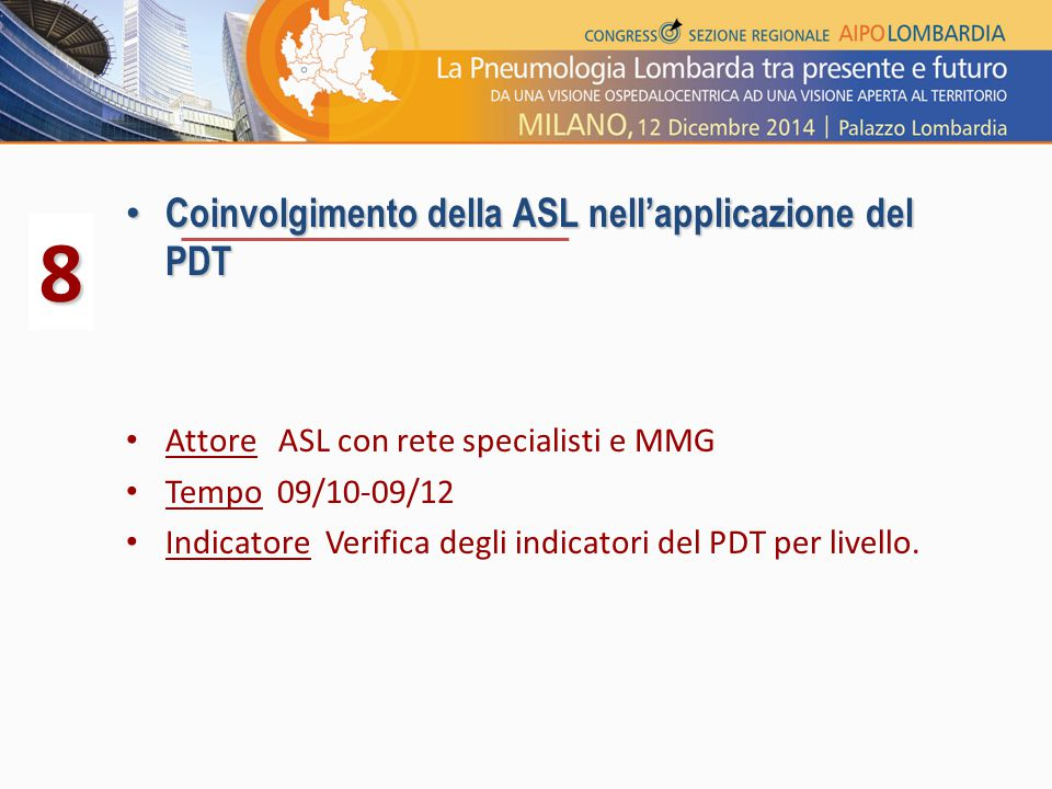 8 Coinvolgimento della ASL nell'applicazione del PDT