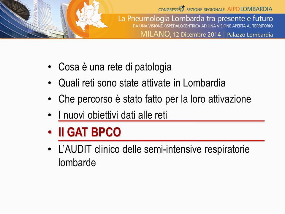 Il GAT BPCO Cosa è una rete di patologia