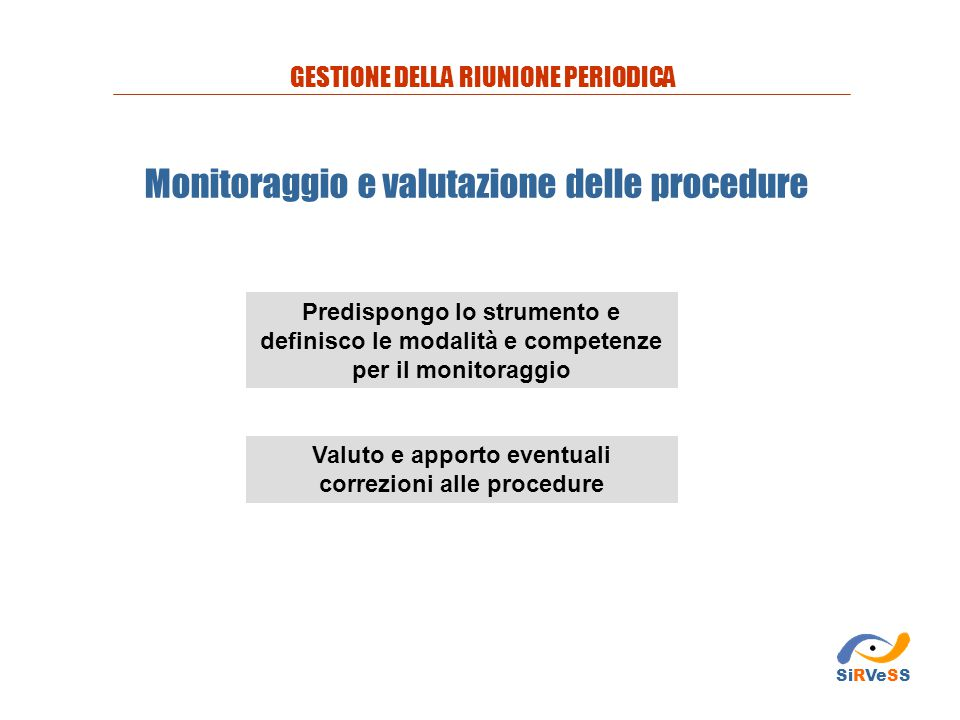 Valuto e apporto eventuali correzioni alle procedure