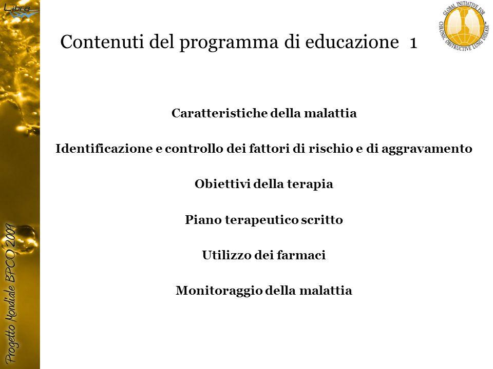 Contenuti del programma di educazione 1