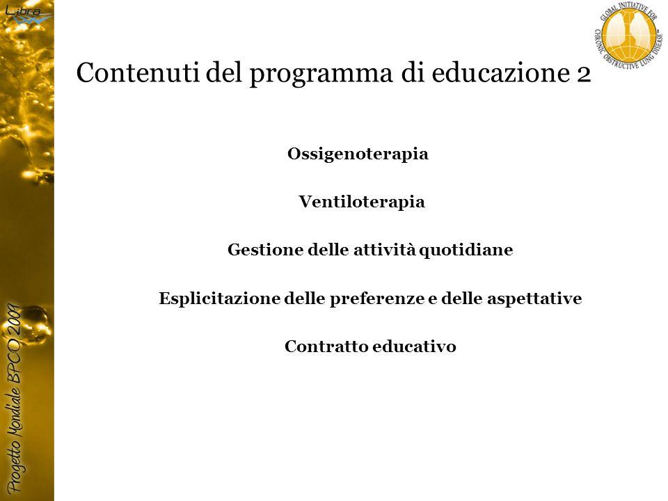 Contenuti del programma di educazione 2