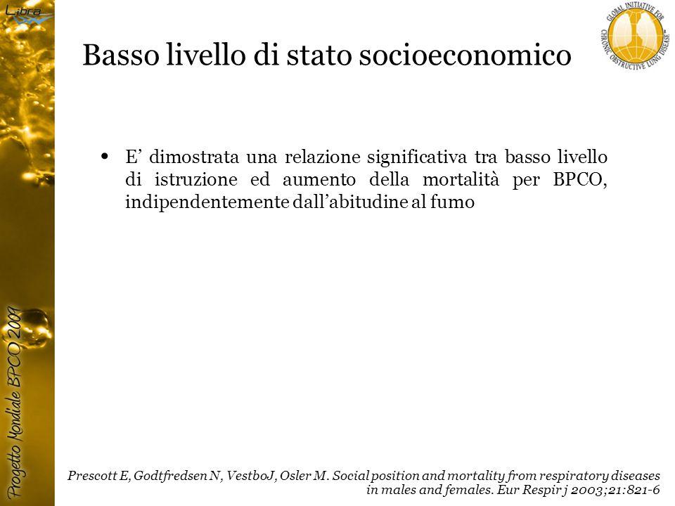 Basso livello di stato socioeconomico