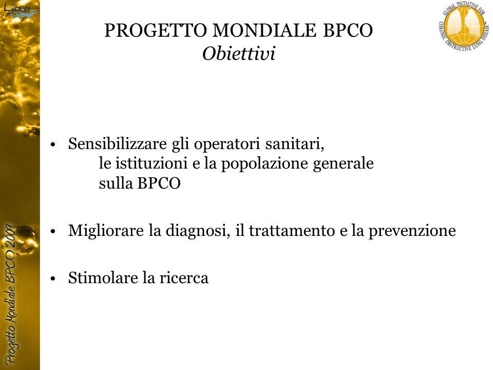 PROGETTO MONDIALE BPCO Obiettivi