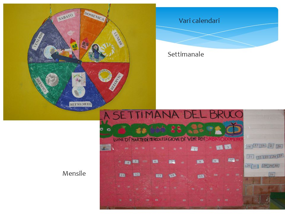 Vari calendari Settimanale Mensile