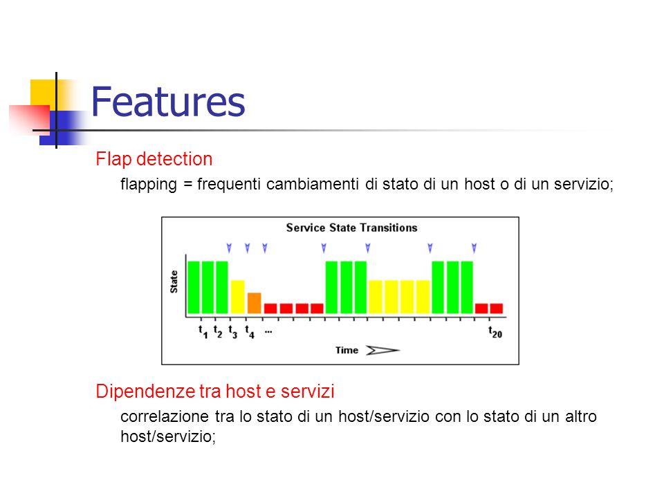 Features Flap detection Dipendenze tra host e servizi