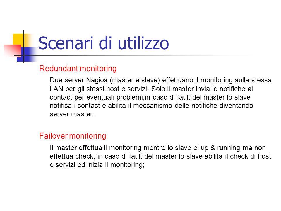 Scenari di utilizzo Redundant monitoring