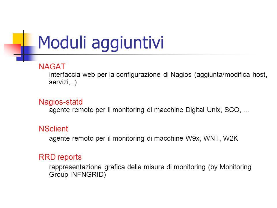 Moduli aggiuntivi NAGAT interfaccia web per la configurazione di Nagios (aggiunta/modifica host, servizi,..)