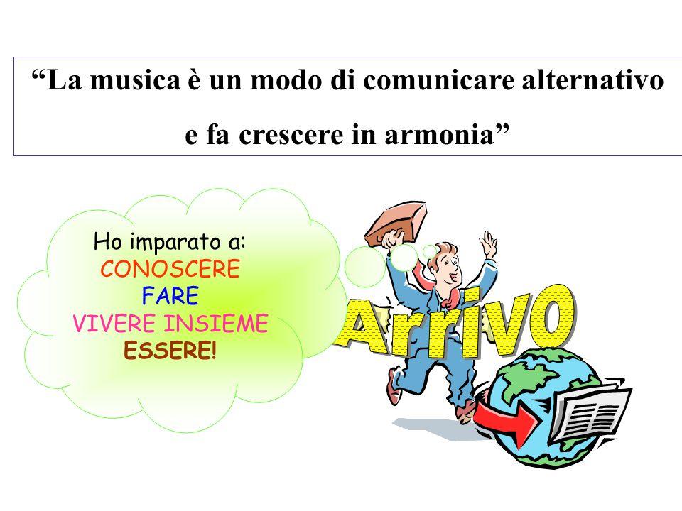 Arrivo La musica è un modo di comunicare alternativo