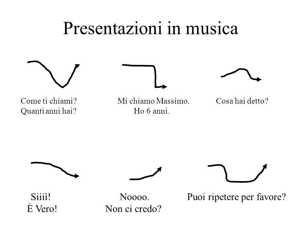 Presentazioni in musica