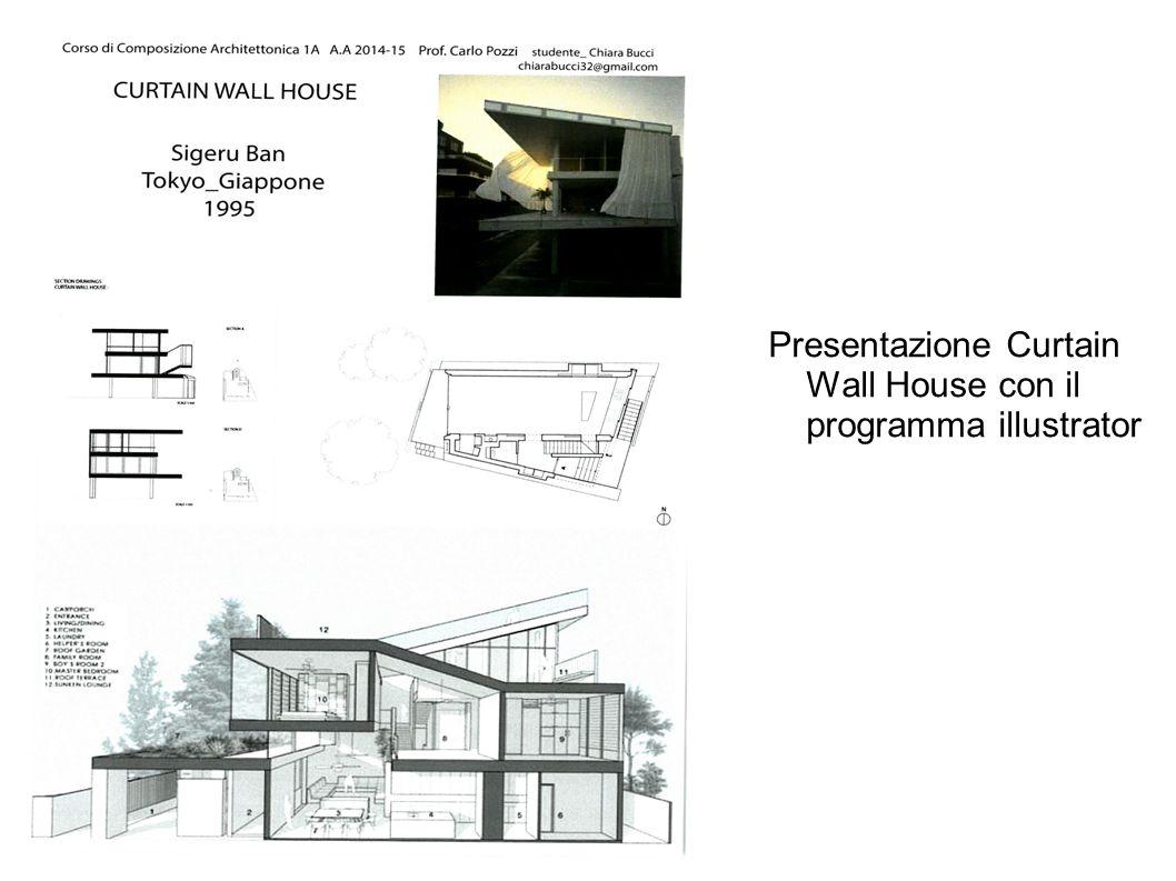 Presentazione Curtain Wall House con il programma illustrator
