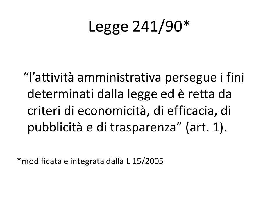 Legge 241/90*
