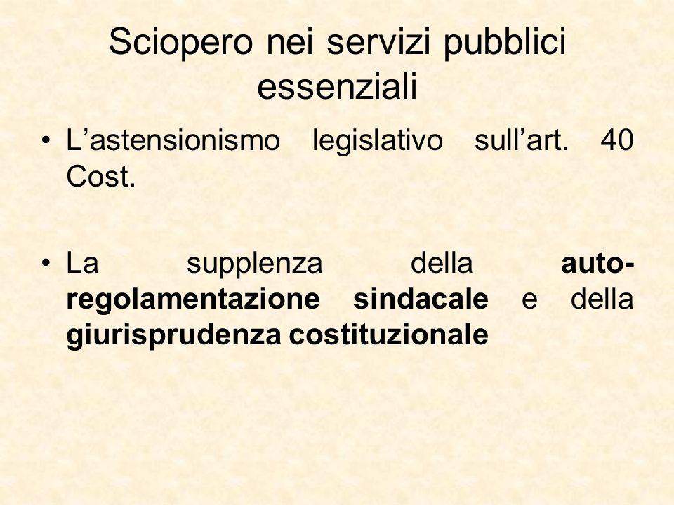 Sciopero nei servizi pubblici essenziali