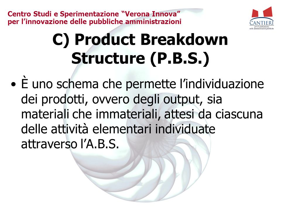 C) Product Breakdown Structure (P.B.S.)