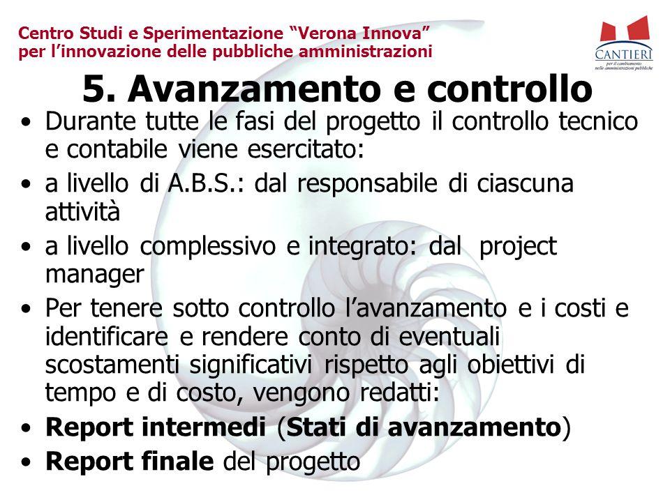 5. Avanzamento e controllo