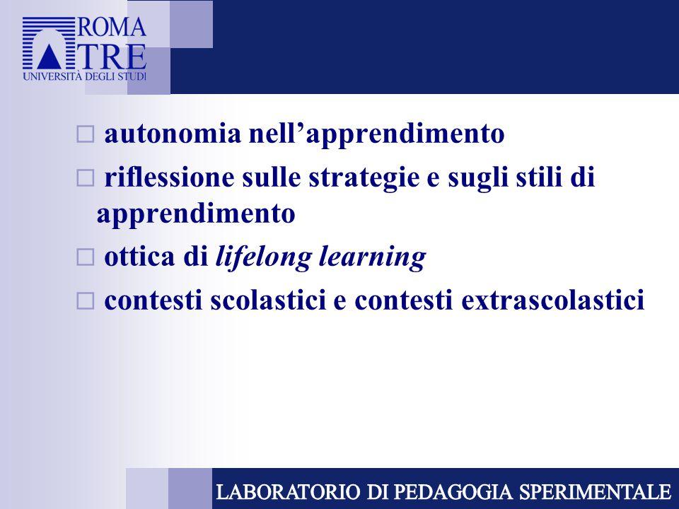 autonomia nell'apprendimento