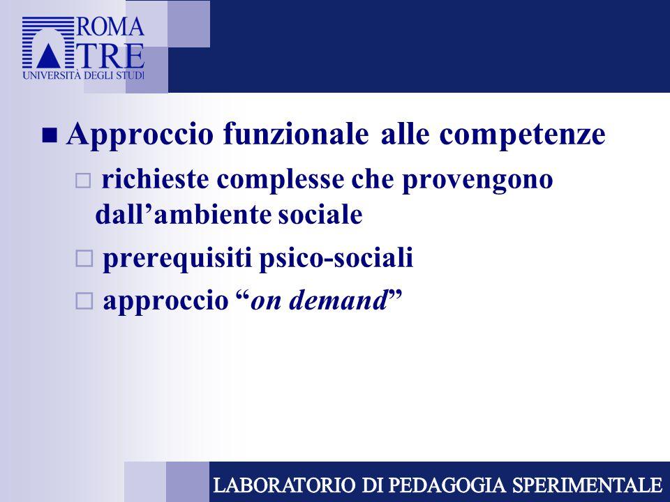 Approccio funzionale alle competenze
