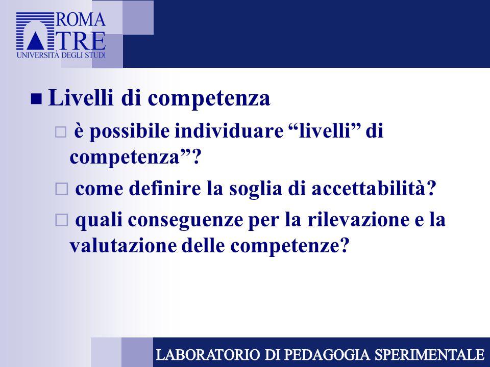 Livelli di competenza come definire la soglia di accettabilità