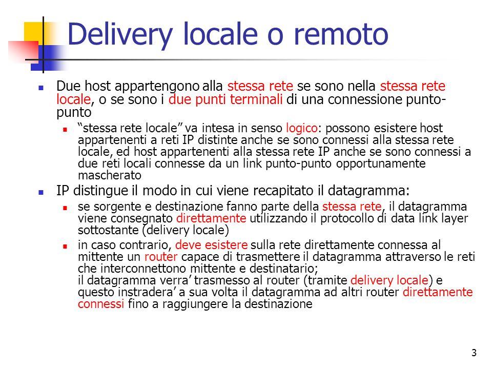 Delivery locale o remoto