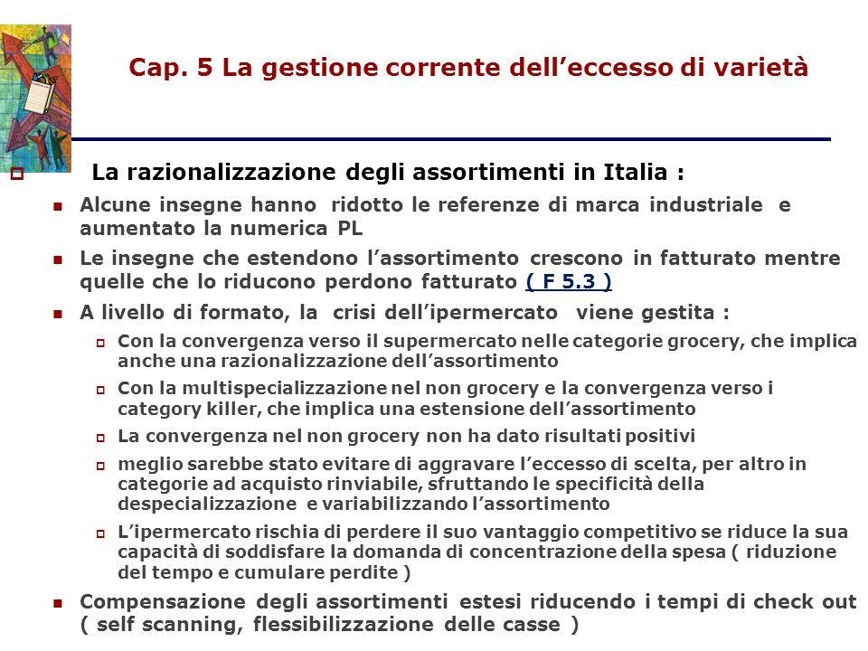 Cap. 5 La gestione corrente dell'eccesso di varietà