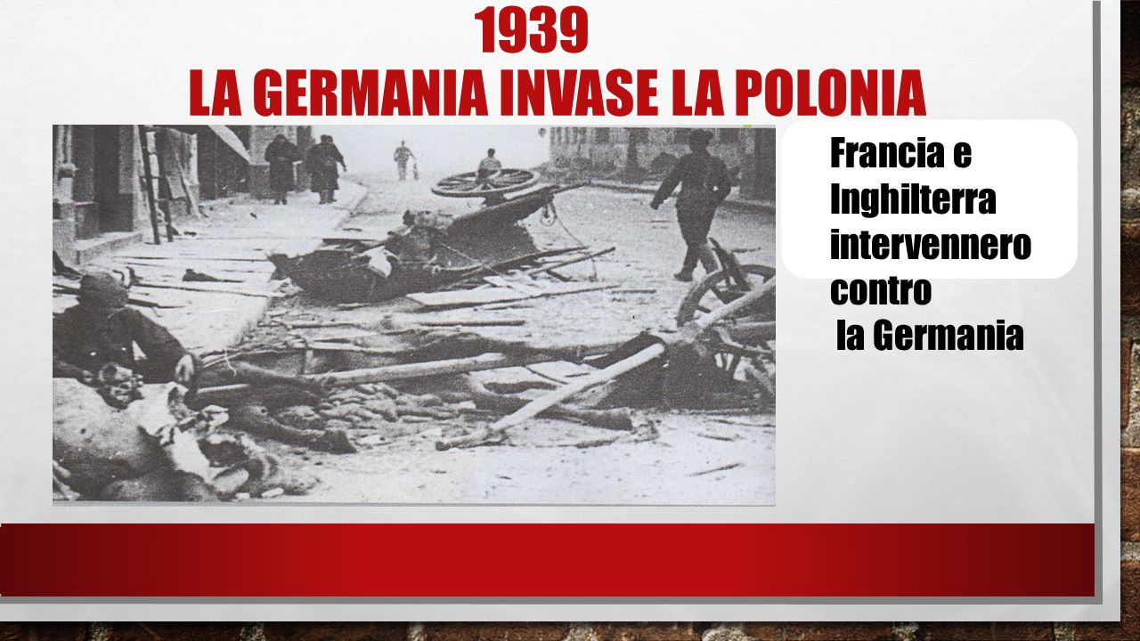 1939 la germania invaSe la polonia