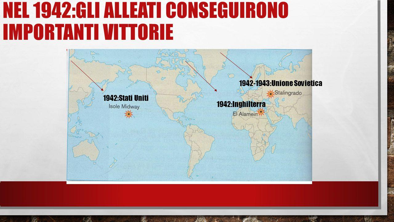 Nel 1942:gli alleati conseguirono importanti vittorie