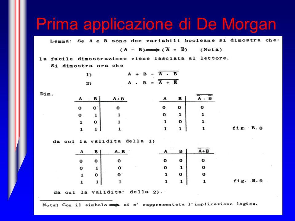 Prima applicazione di De Morgan