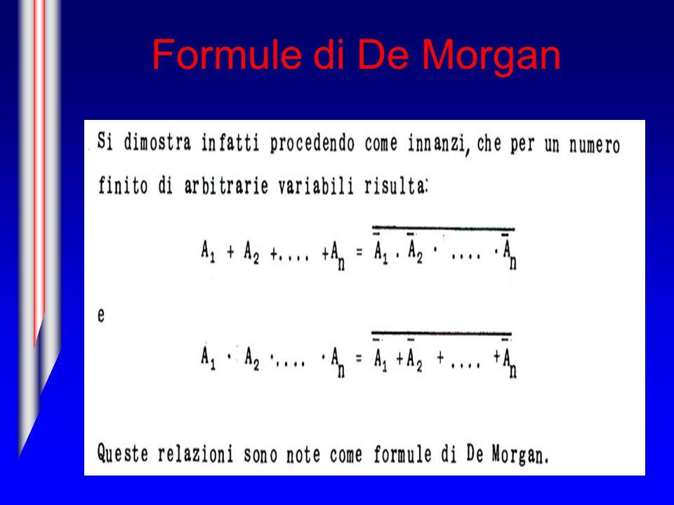 Formule di De Morgan
