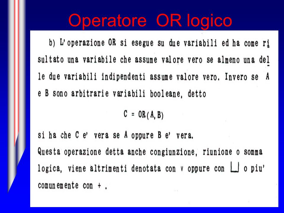 Operatore OR logico