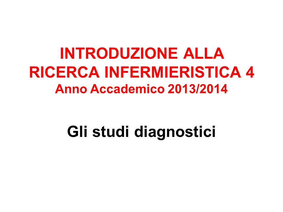 INTRODUZIONE ALLA RICERCA INFERMIERISTICA 4 Anno Accademico 2013/2014