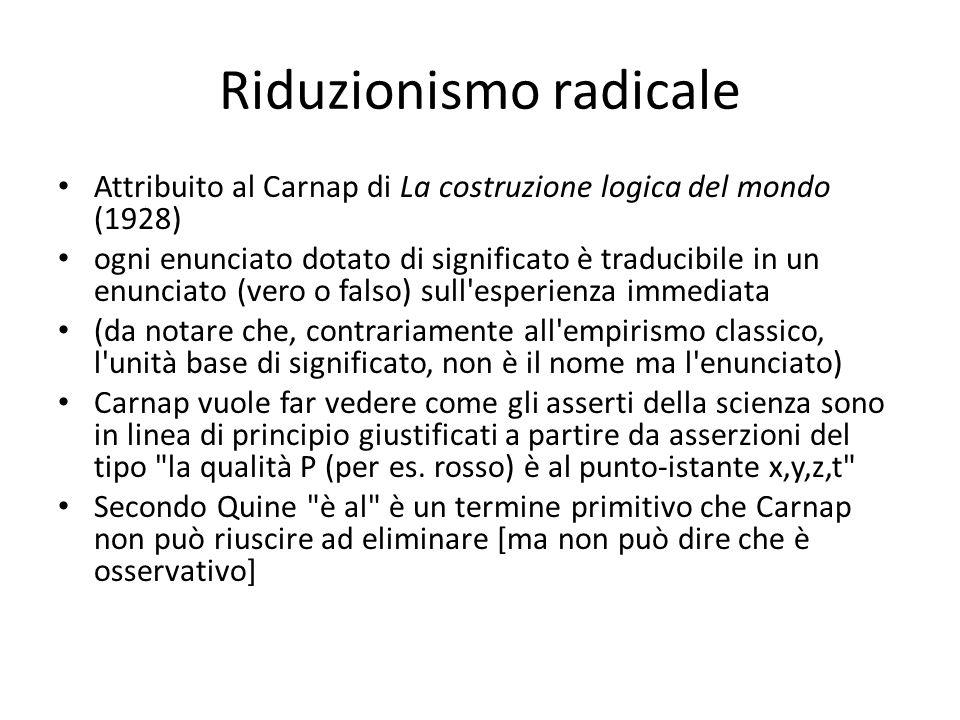 Riduzionismo radicale