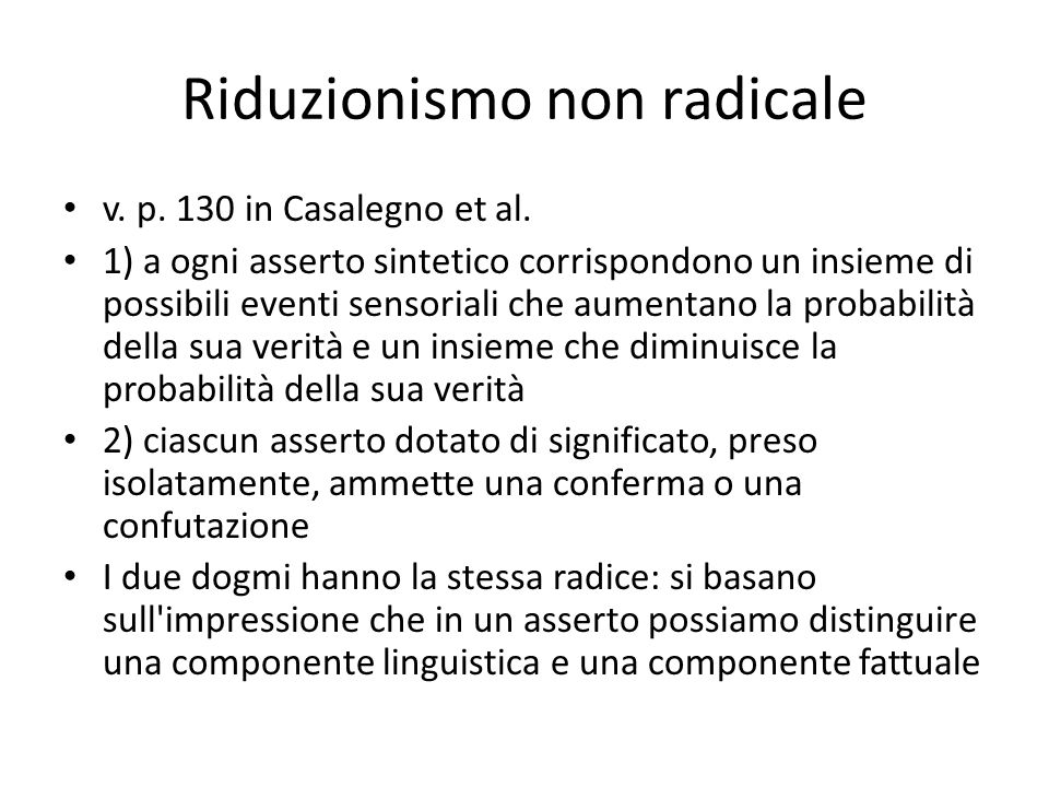 Riduzionismo non radicale