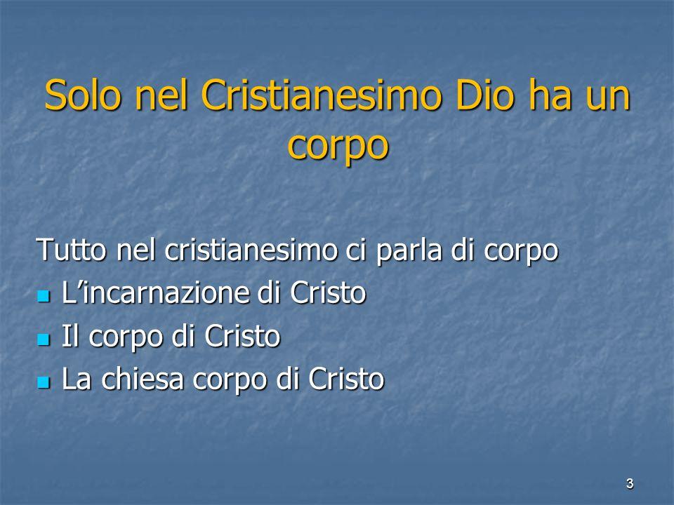 Solo nel Cristianesimo Dio ha un corpo