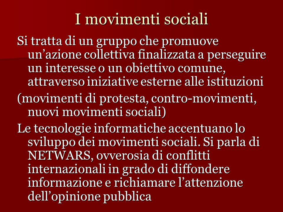 I movimenti sociali