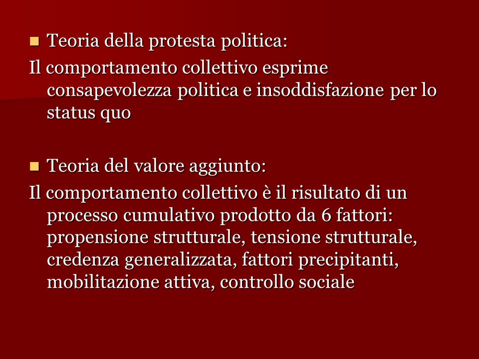 Teoria della protesta politica: