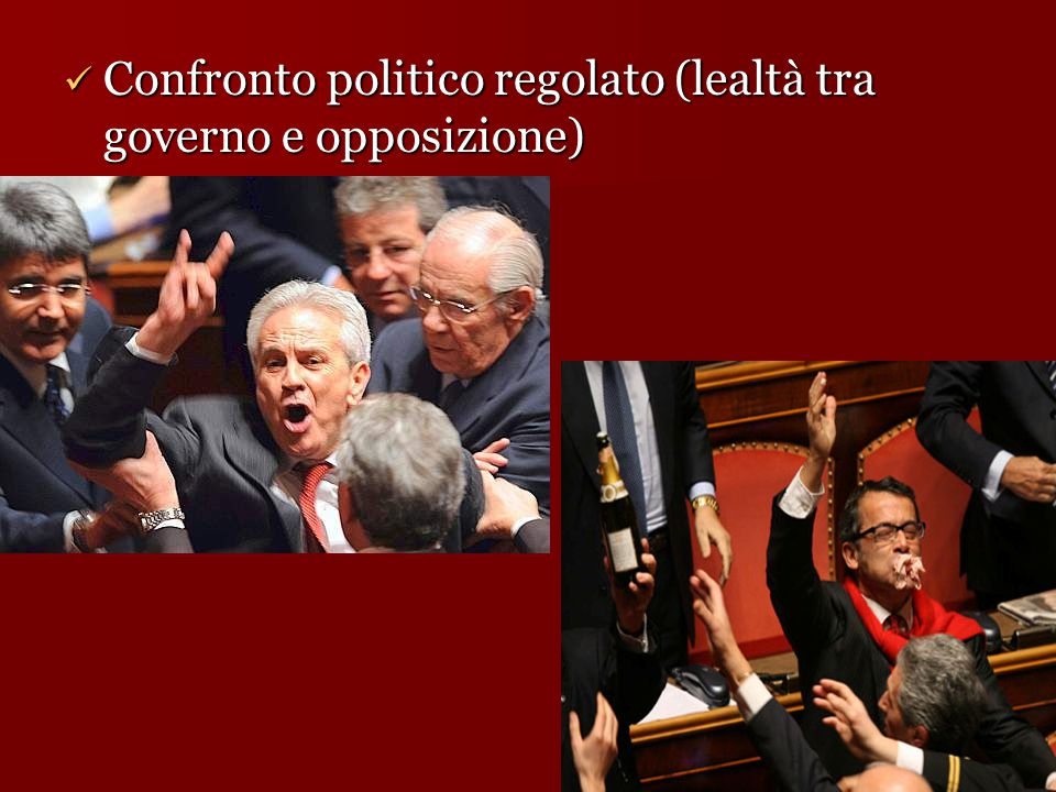 Confronto politico regolato (lealtà tra governo e opposizione)
