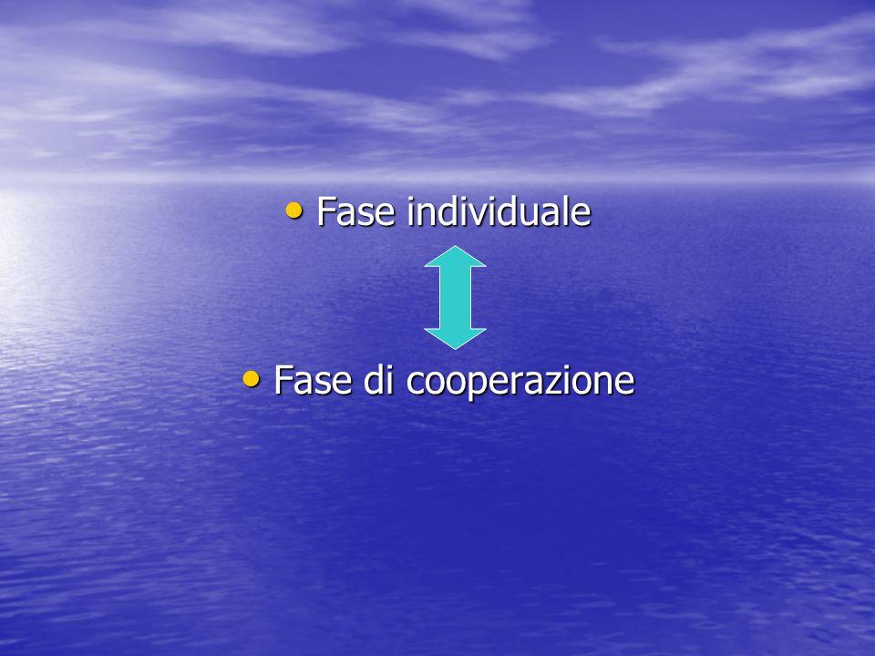 Fase individuale Fase di cooperazione