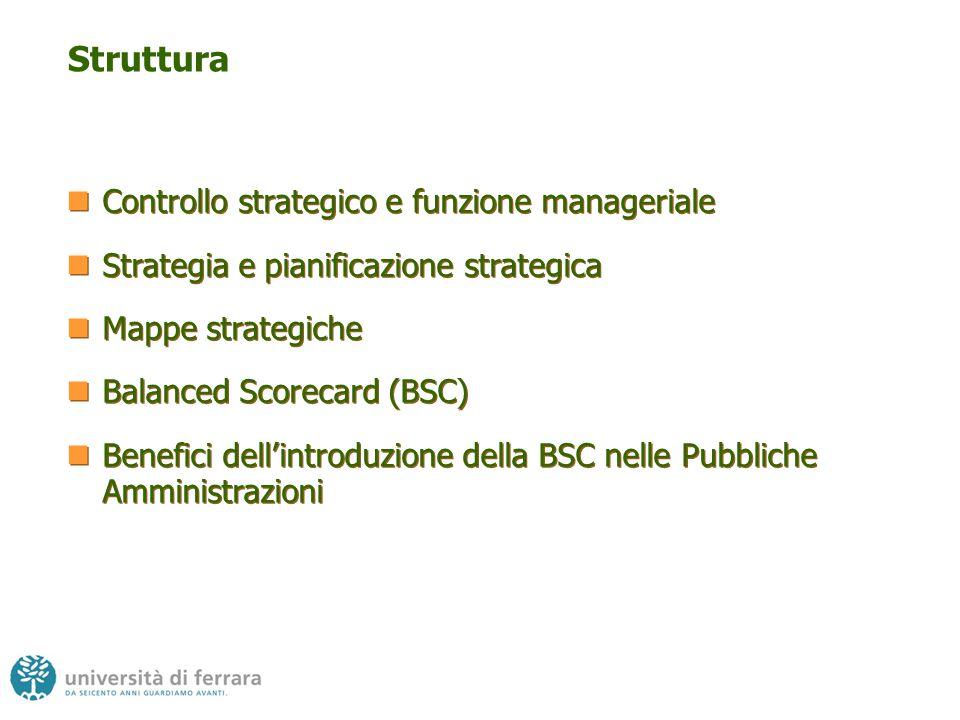 Struttura Controllo strategico e funzione manageriale