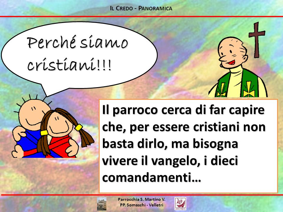 Perché siamo cristiani!!!