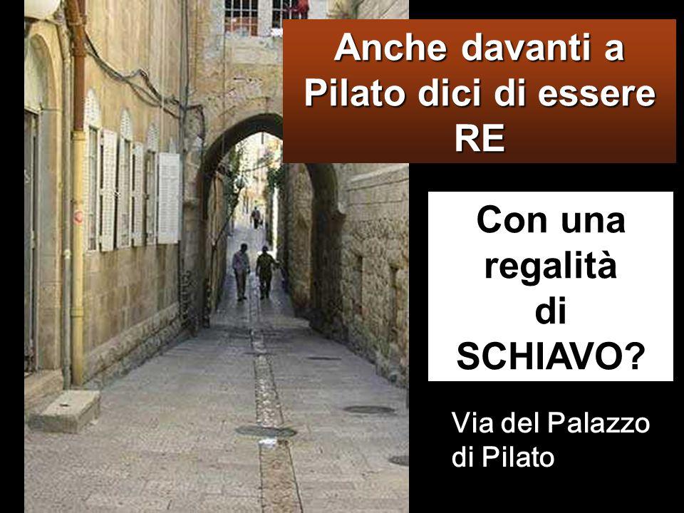Anche davanti a Pilato dici di essere RE Con una regalità di SCHIAVO
