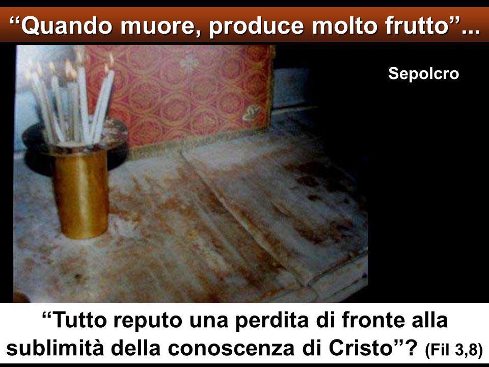 Quando muore, produce molto frutto ...