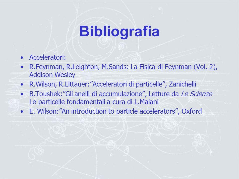 Bibliografia Acceleratori: