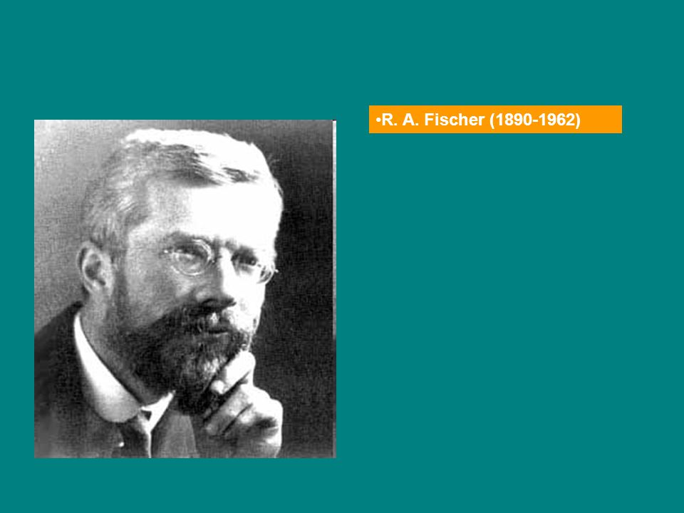 R. A. Fischer (1890-1962)