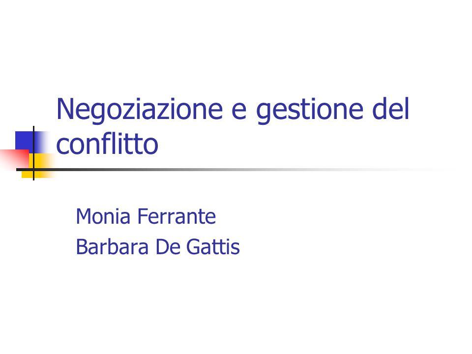 Negoziazione e gestione del conflitto