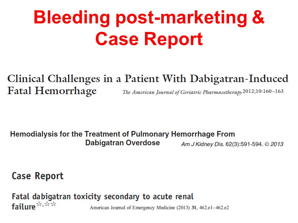 Bleeding post-marketing & Case Report