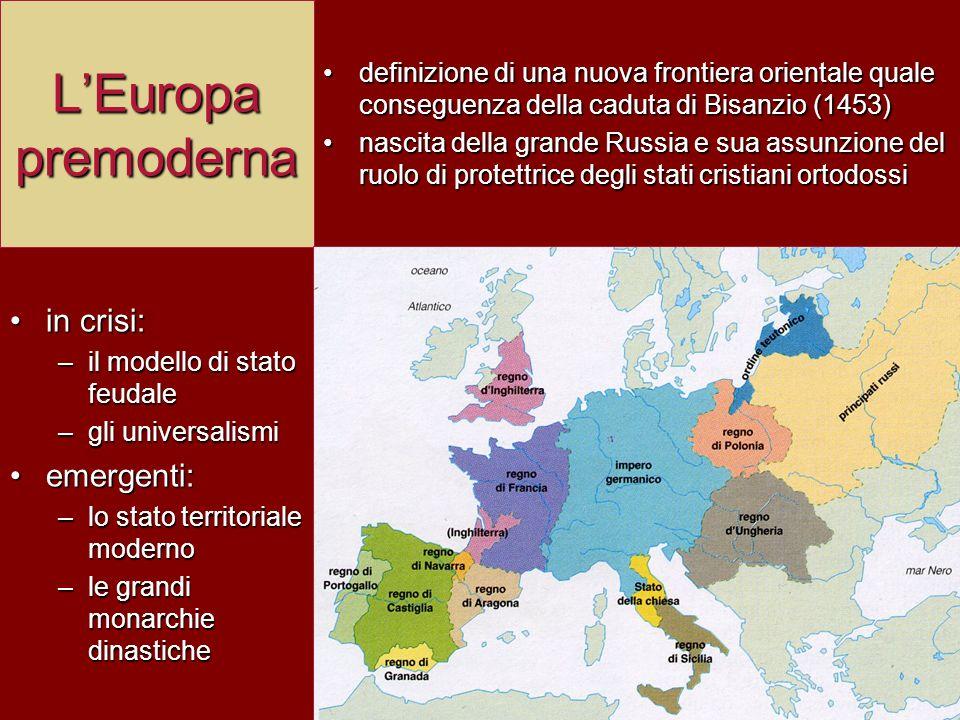 L'Europa premoderna in crisi: emergenti: