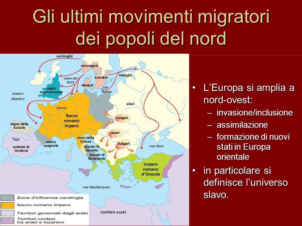 Gli ultimi movimenti migratori dei popoli del nord